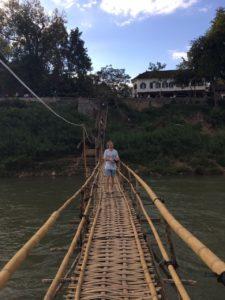 Bamboo bridge, Vang Vieng, Laos