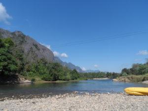 Nam Song river, Vang Vieng, Laos